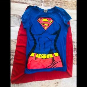 Supergirl t- shirt costume with cape by rubies M